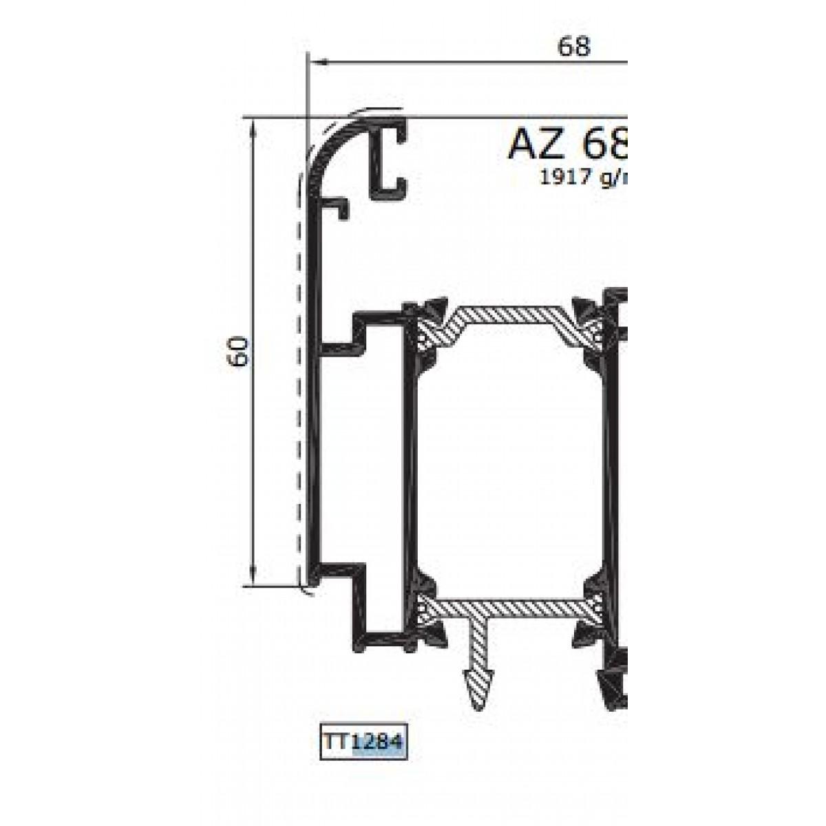 Guarnizione Di Battuta Per Infissi In Alluminio Perzzo X Metro