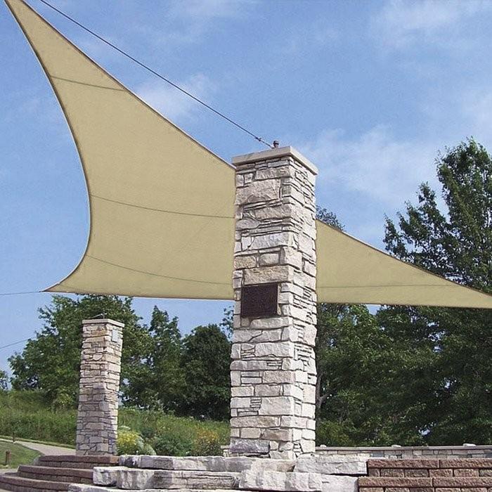 Tenda vela triangolare Ecru 3.6x3.6x3.6 mt VERDELOOK 824/5