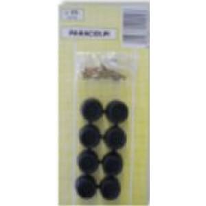 Paracolpi in gomma di colore nero diametro ø 19 mm, pz 8 x blister    Silence