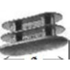 Copritesta ovale alettato colore nero dimensioni mm. 20 x 40