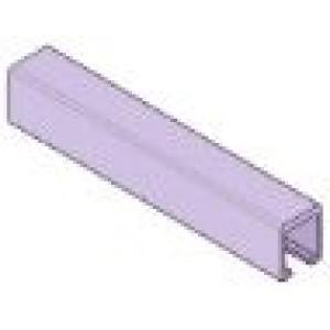 Binario di scorrimento superiore - peso anta fino a 15 kg in alluminio mt. 3( x Kit Art. 0350/4)
