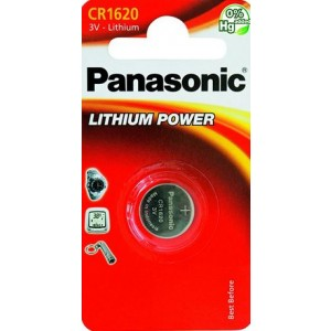 Batteria al litio a bottone mod. CR 1620 3Volt    Panasonic
