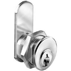 Cilindretto universale in ottone nichelato  funzionamento rotaz. 90° dx, 90°  sx, cilindro mm 20 diam ø mm 19,20     Meroni