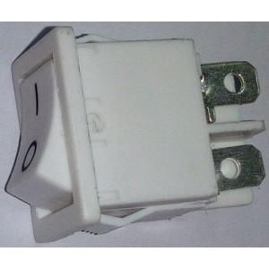Interruttore mini bilanciere bipolare On/Off  4p colore bianco misura mm 10 x 18  CE 10A  125V