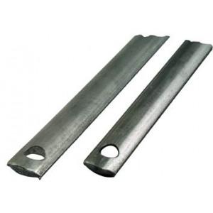 """Aste per serrature in formato """"mezze tonde"""" metallo brunito  lunghezza cm 140 a 2 fori  mod. 010833bt21400    Meroni"""