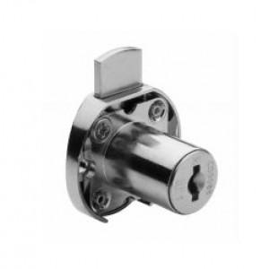 Serratura da applicare per cassetto, in zama, da mm 30 diametro ø 16,5 versione a chiavi uguali (KA)  Meroni