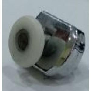 Cuscinetto box doccia, lato inf.  con blocchetto in plastica, ruota liscia  diam. ø 24