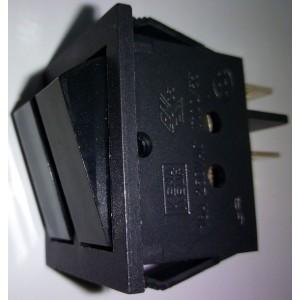 Doppio deviatore bilanciato nero mis. 22x26mm     250Vac  16 Amp    Gbc