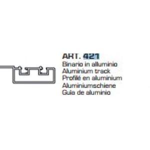 Binario per  scorrevoli  mt. 3 in alluminio anodizzato spazzolato    Ternoscorrevoli