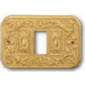 Coprinterruttore mod. Firenze stile Luigi XV in ottone lucido        Salice