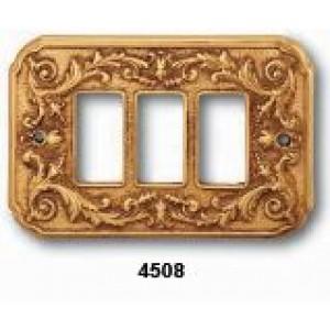 Coprinterruttore  mod. Firenze   ottone lucido  3P  stile Luigi XV       Salice