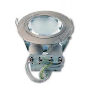 Faro fisso tondo inox  2xE27 foro ø 145 mm senza lampade diam. ø 168 mm prof. 85 mm     Lampo