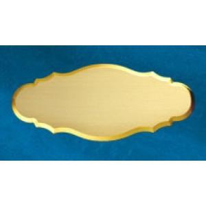Targhetta ovale Nuvola 63 Rio  Ottone  satinato  mm 150 x 65 con incisione