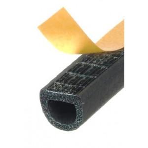 Guarnizione in gomma profilata, adesiva mod. KRONSTIK/D mm.14X12 nera   Mappy