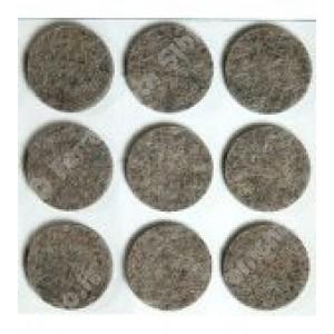 Feltrini tondi,adesivi in feltro sintetico di colore noce, misure mm. ø 26 spessore 3 mm. cf. da pz 9.    Silence