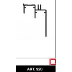 Binario grezzo per scorrevoli, parte inferiore, asta da mt. 3      Art. 920/G   Ternoscorrevoli