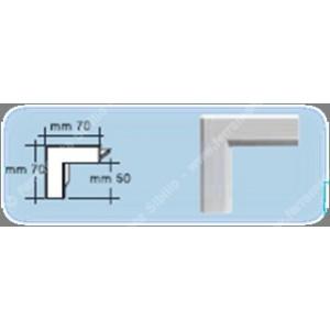Bordo angolare da incasso per  KIT100 colore bianco  Edilplast