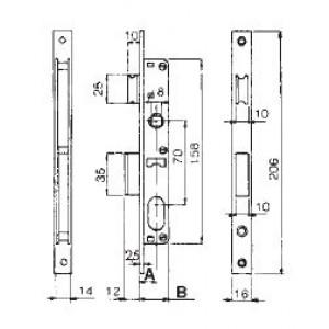 SERRATURE CORNI 9250015080 S/CILIN.ENT. 15 FR.22