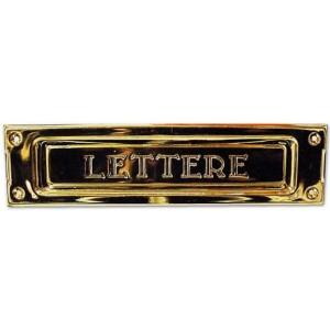 Buca per lettere in ottone lucido cm 22.8 x 5.5   IBFM