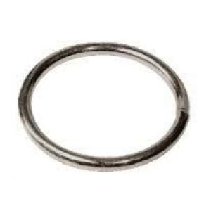 Anello in ferro zincato saldato nichelato diam ø 14 mm.      POZZI