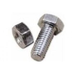 Bulloni per scaffali zincati   MA8 x 16 mm  con dado