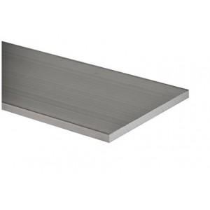 Barra piatta alluminio argento, 10 x 2 mm,  asta da  4,0 mt