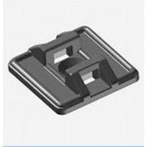 Base nera per fascette in PVC L27 1VIA 4.8     Elematic