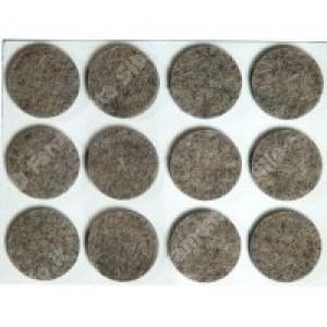 Feltrini rettangolari, adesivi in feltro sintetico di colore noce, misure diam ø mm. 36 spessore 3 mm. cf. da pz 4.  Silence