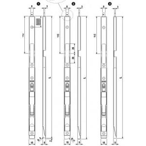 A400640102 F2 CATENACCI A LEVA F18 R8 H550 PUN.8 AGB
