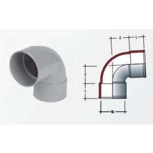 Curva in pvc  per accessori igienico sanitari 87°30  CH 88 F/40 FF  Dolomite