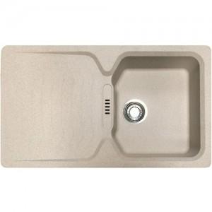 """Lavello  in """"Fragranite"""" cm  86x50  ad una vasca con gocciolatoio  mod. Calypso    Franke"""