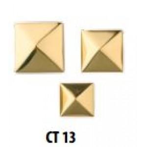 Chiodi a piramide in ottone lucido con vite separata mm 25 x25  Mariva