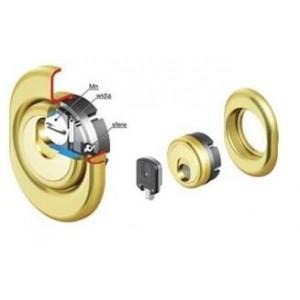 Defender magnetico a 3 dischi con rosetta super blindata ottone lucido MAC3G    Disec