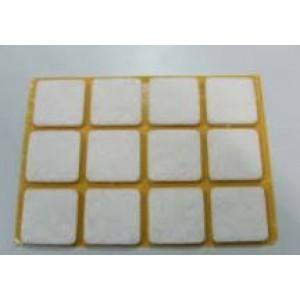 Feltrini quadri,adesivi in feltro sintetico di colore bianco misure mm. 20 x 20 spessore 3 mm. cf. da pz 12  Silence