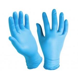 Guanti monouso  in nitrile  colore blu taglia Extralarge  conf. da 100 pezzi