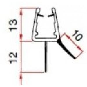 Guarnizioni e profili per box doccia a 2 alette per cristalli da mm 6-8 dimens.  mm 402x250