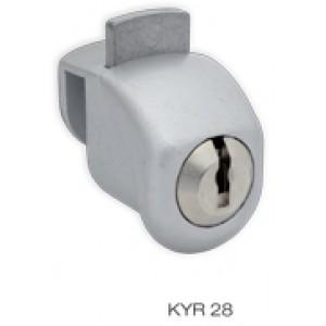 serratura cil/piatto applic p/vetro c/2 ka nik kyra 28nlbika