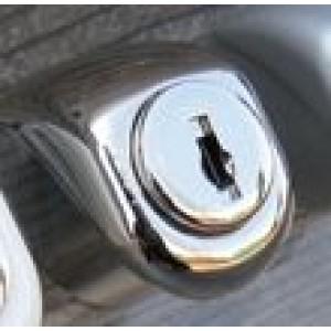 Serratura  per ante a vetro senza foro  mod. KYR  28  per 1 anta  rifinitura cromo lucido