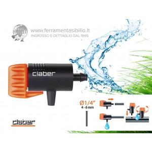 Gocciolatore da 0 a 6 litri / ora, montaggio ad innesto su tubo capillare da 1/4