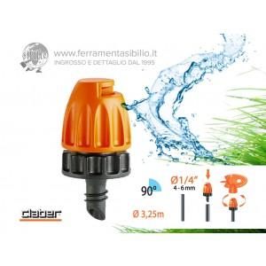 Microirrigatore ad angolo di 90° ad incastro claber rainjet 91254 per l'irrigazione a pioggia fine degli angoli del giardino