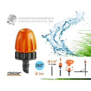 Micronebulizzatore a pioggia polverizzata di 360° ad incastro claber rainjet 91258 per l'irrigazione a pioggia nebulizzata e polverizzata