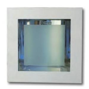 Faretto da incasso fisso quadrato con due portalampada E27 e vetro protettivo  mm 150 x 150  bianco    Lampo