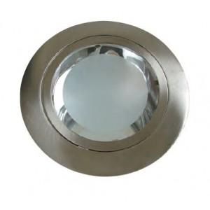 Faro fisso tondo cromo   2xE27    foro ø 145 mm  senza lampade     Lampo