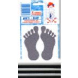 Antiscivolo per bagno e doccia a forma di impronta piede in blister da pz.8     Silence