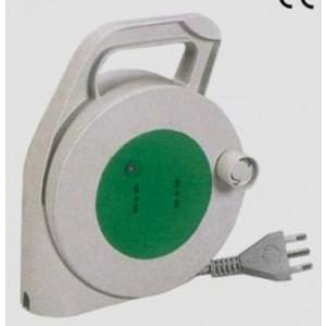Avvolgicavo e prolunga elettrica mt 10 con 2 prese 16A cavo spessore 1,5 mm2  bipasso    Fanton