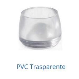 Puntali di diametro ø 20 mm in Pvc trasparente. Cf. da pz. 4.   Italfeltri