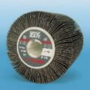 Spazzola lamellare abrasiva  con panno diametro  ø 110  x 100 x 19,1   A 80  con flange  Sait