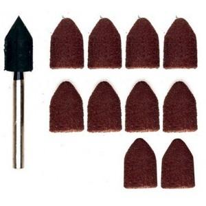 Cappucci abrasivi professionali di lunga durata con Platorello Portacappuccio gr 80-150    PROXXON