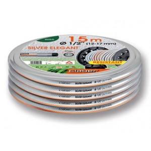 """Tubo da giardinaggio per irrigazione mod. Silver Elegant Plus diametro ø 5/8""""  lunghezza metri 25     Claber"""