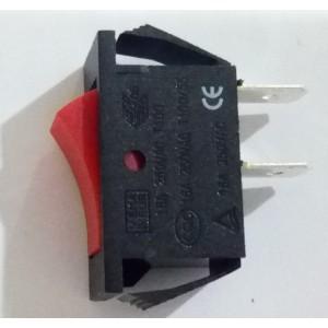 Interruttore a bilanciere  unipolare rosso  mm 22 x 12     Gbc